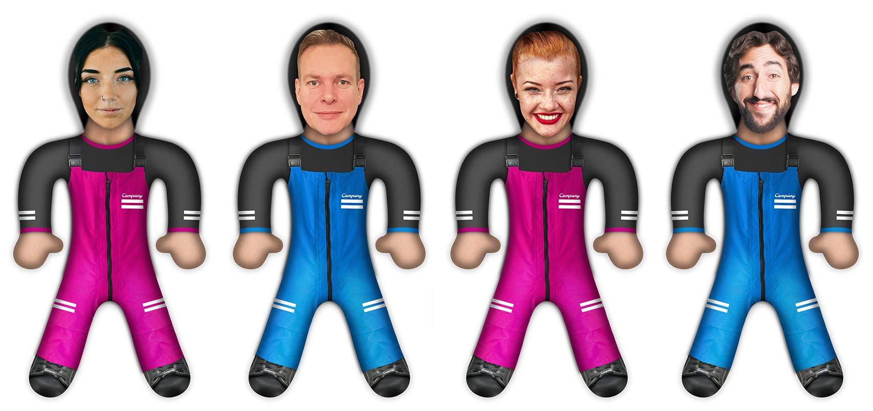 Beispiel für Knuddlers Foto Puppen von Teams